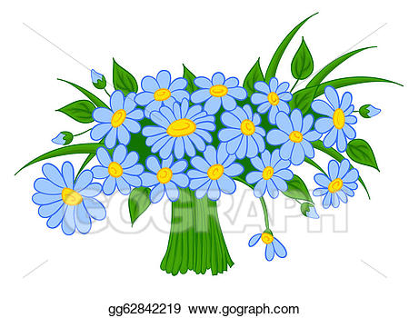 Bouquet clipart cartoon. Eps illustration animated of