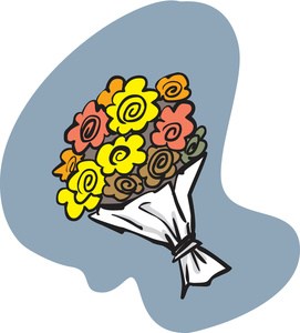 Free image garden illustration. Bouquet clipart cartoon
