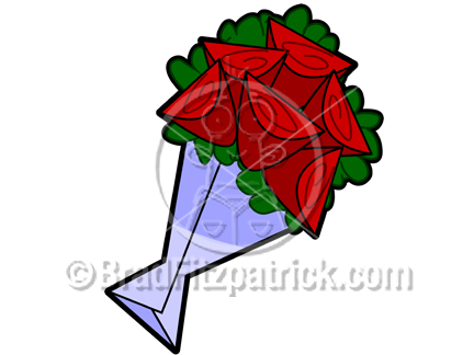 Bouquet clipart cartoon. Roses picture royalty free