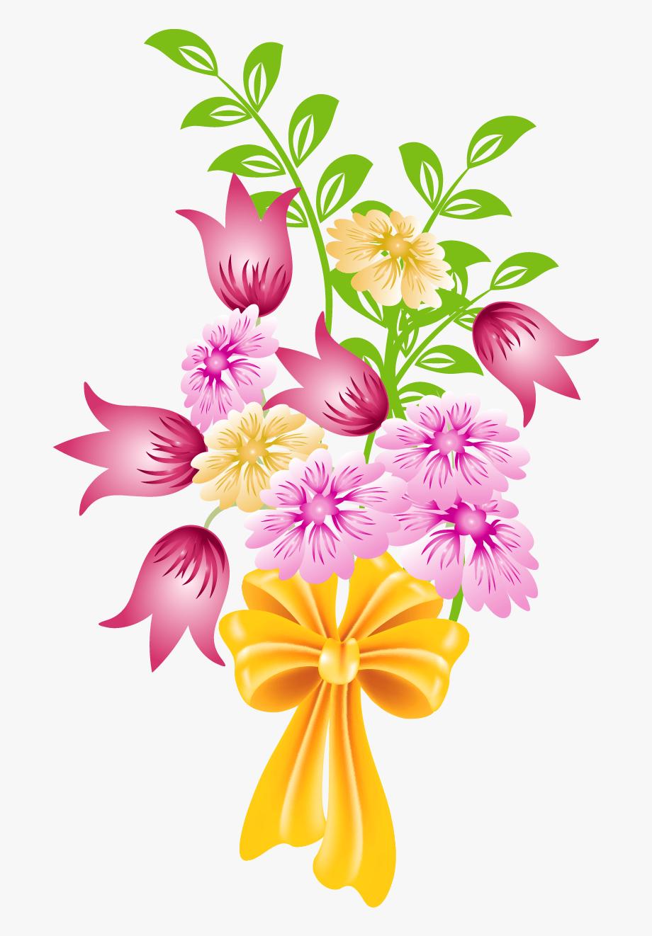 Bouquet clipart cartoon. Floral bunch flower png