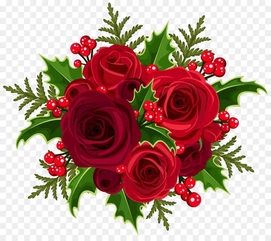 Bouquet clipart christmas. Flower rose clip art