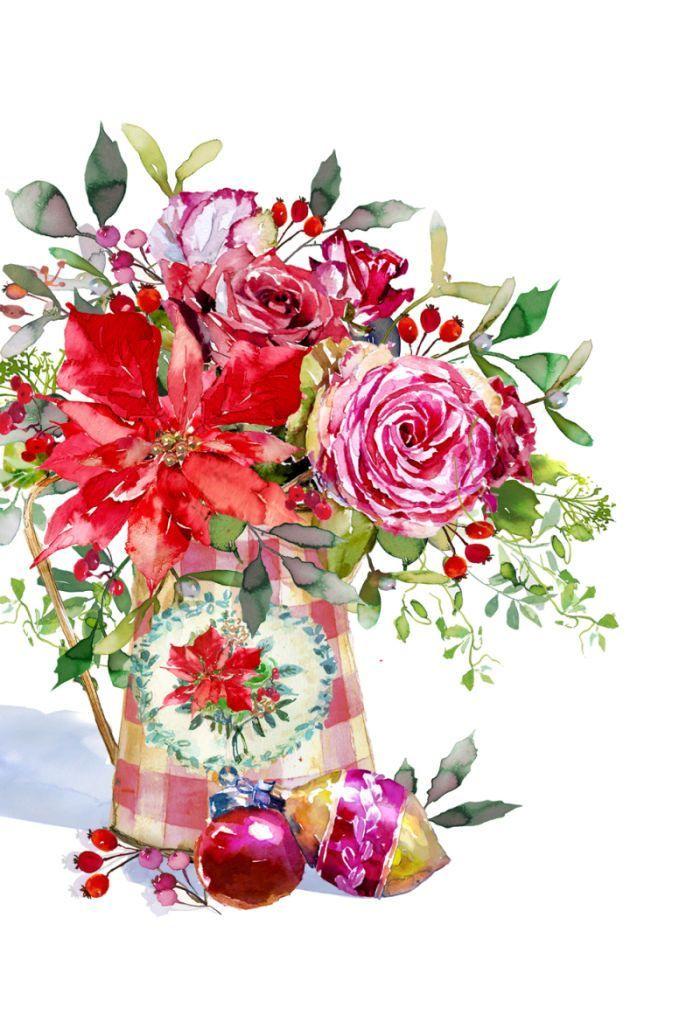 best clip art. Bouquet clipart christmas
