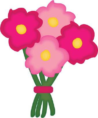 Flower panda free images. Bouquet clipart clip art
