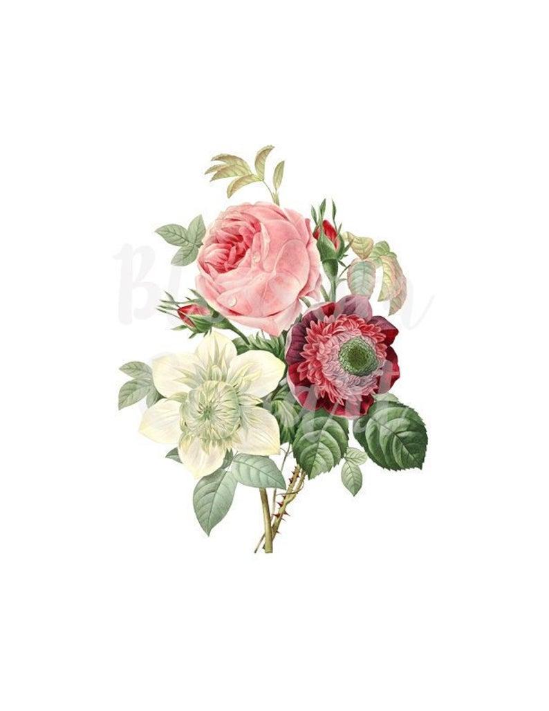 Bouquet clipart clip art. Vintage rose roses for