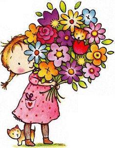Free flower cliparts download. Bouquet clipart cute