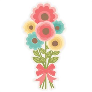 Bouquet clipart cute. Flower miss kate cuttables