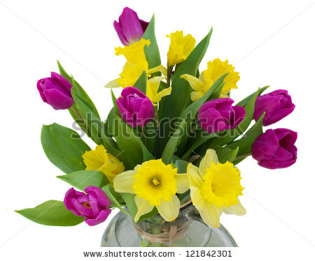 Of tulips and . Bouquet clipart daffodils