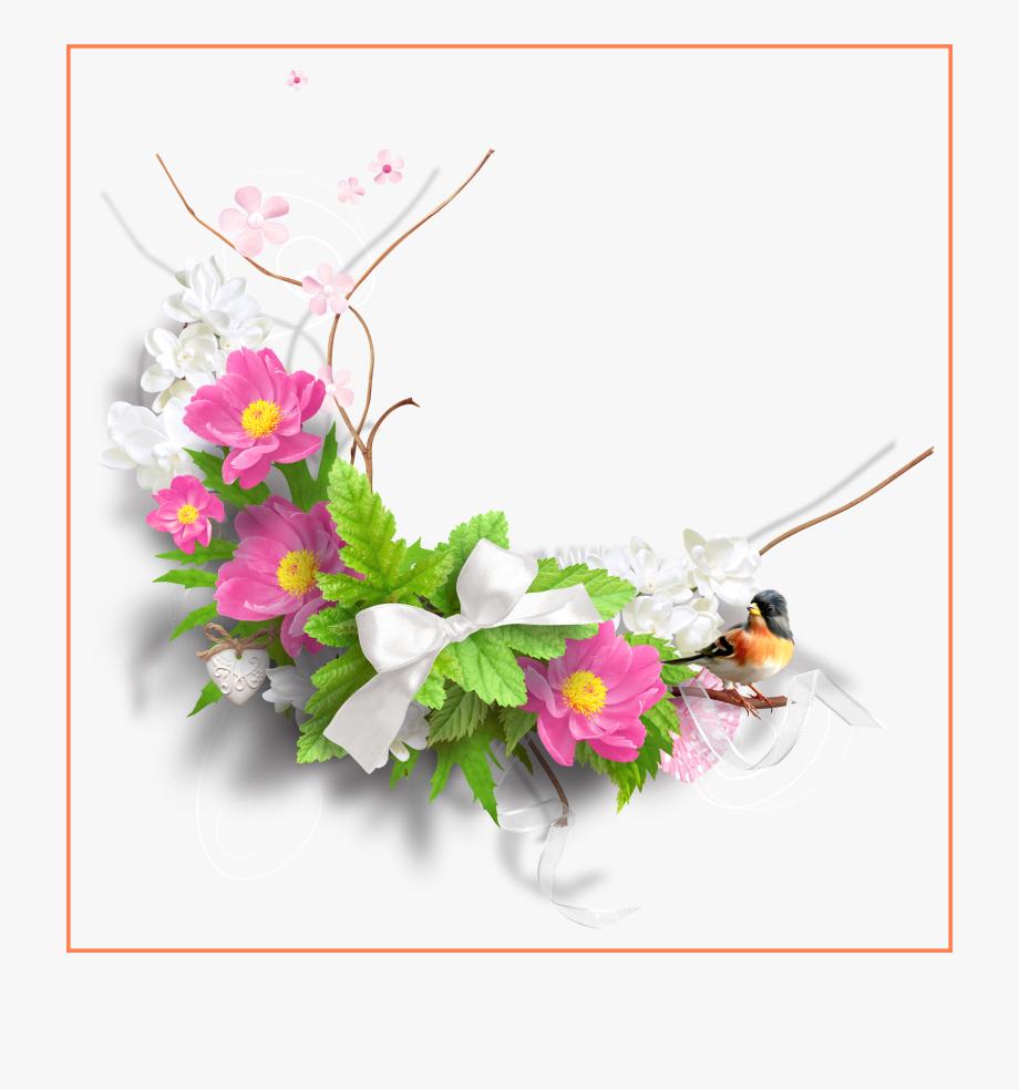 Spring flowers png . Bouquet clipart decoration