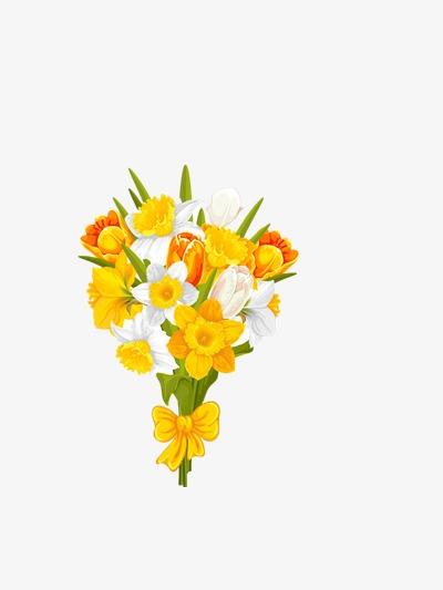 Bouquet clipart decoration. Flowers simple png image
