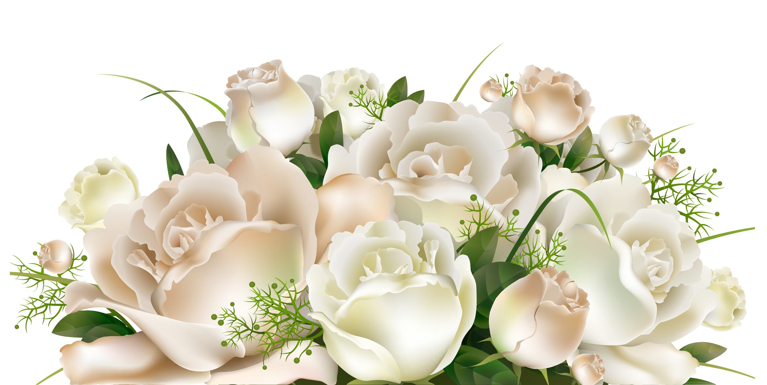 White roses decoration png. Clipart rose bucket