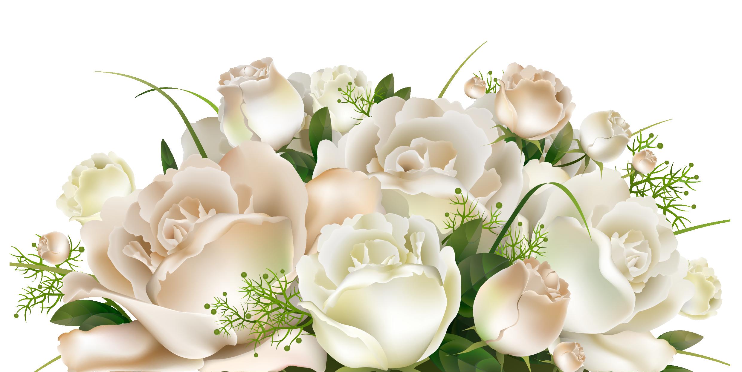 White roses png picture. Bouquet clipart decoration