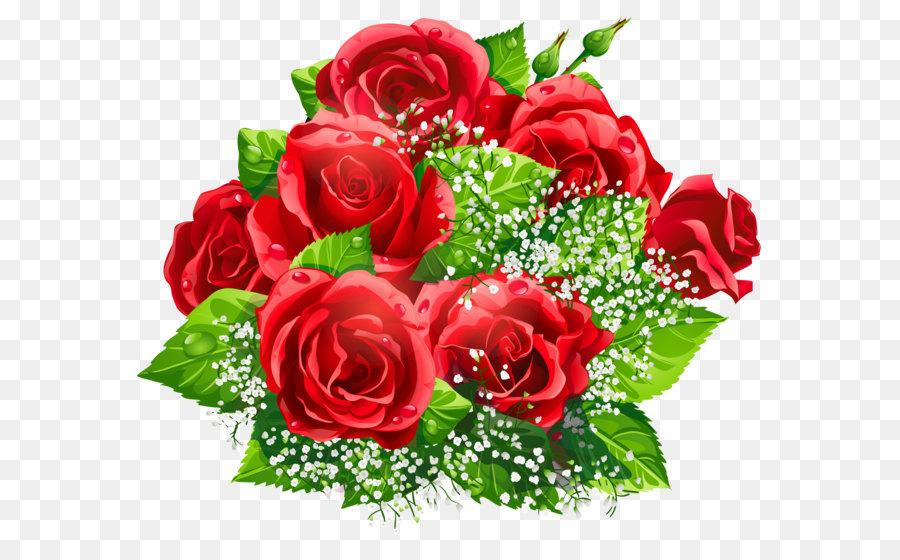 Bouquet clipart decoration. Flower rose clip art