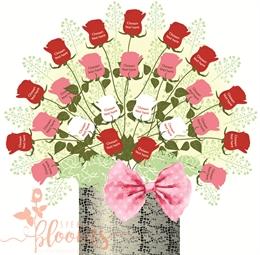 Bouquet clipart dozen rose. Two roses speakingblooms com