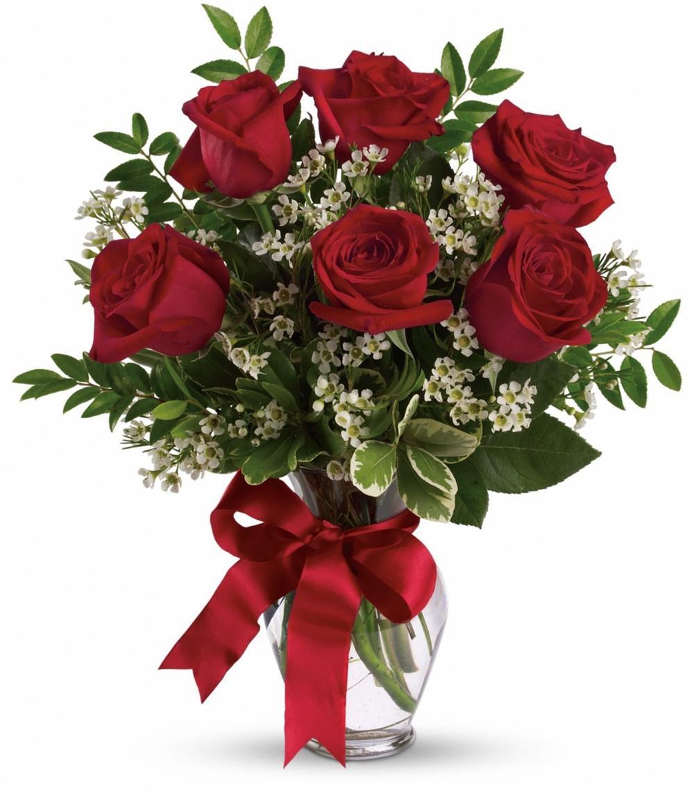 Half red roses happy. Bouquet clipart dozen rose