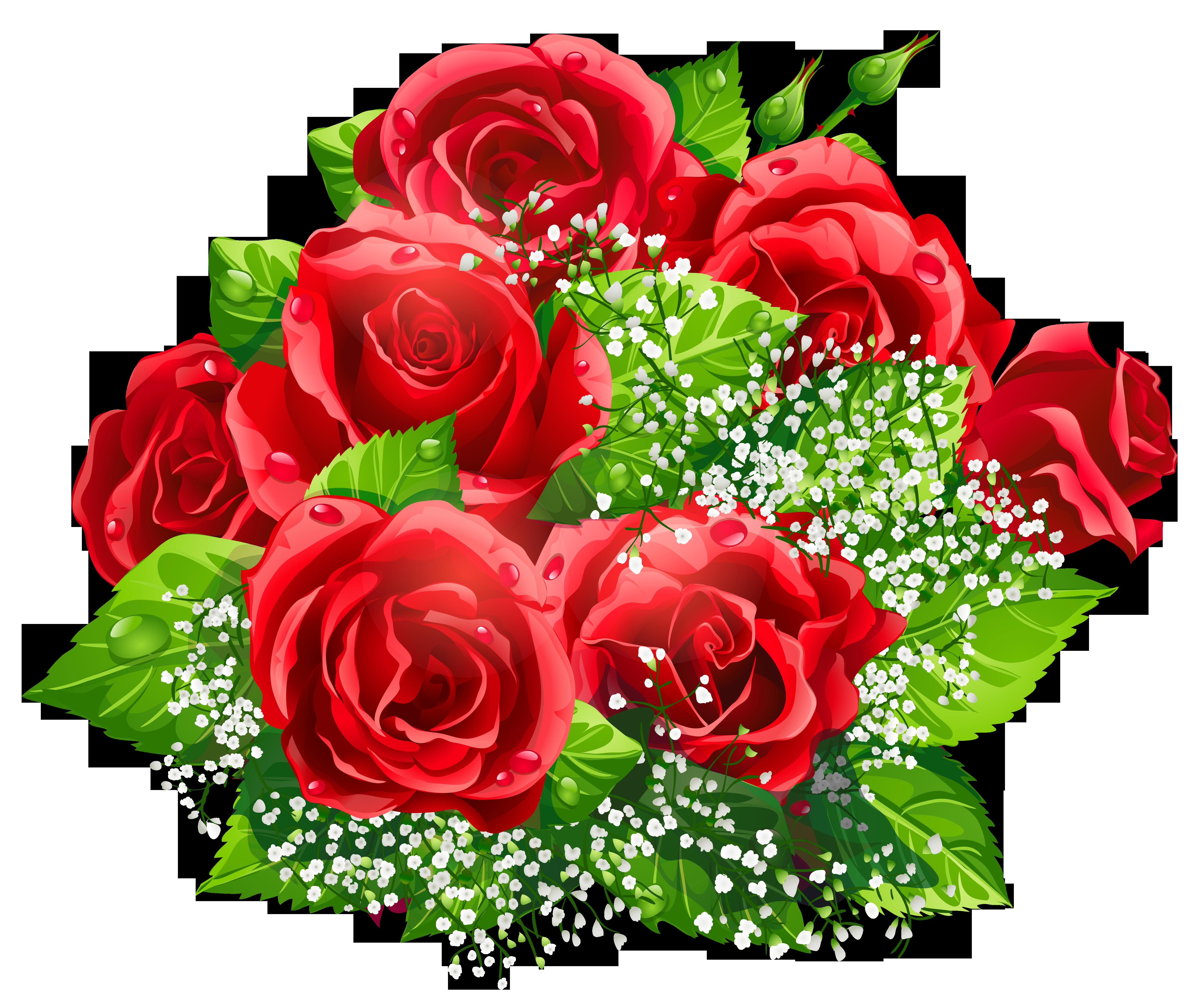 Bouquet clipart dozen rose. Beautiful red roses decor