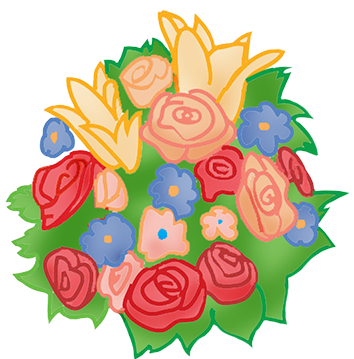 Bouquet clipart drawing. Wedding make your own