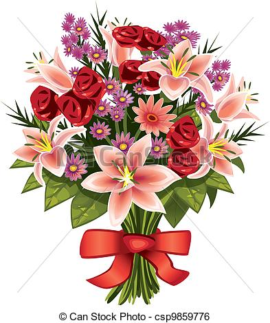 Flower bouquets at getdrawings. Bouquet clipart drawing
