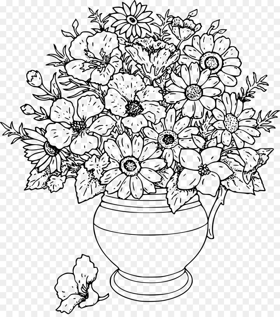 Flower clip art png. Bouquet clipart drawing