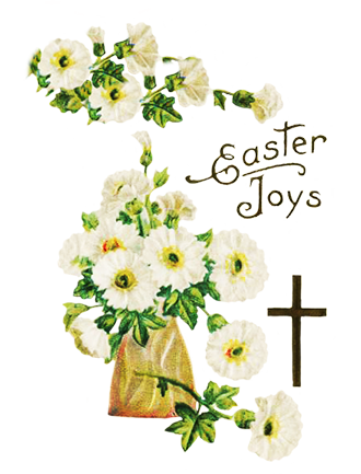 Funny and cute clip. Bouquet clipart easter