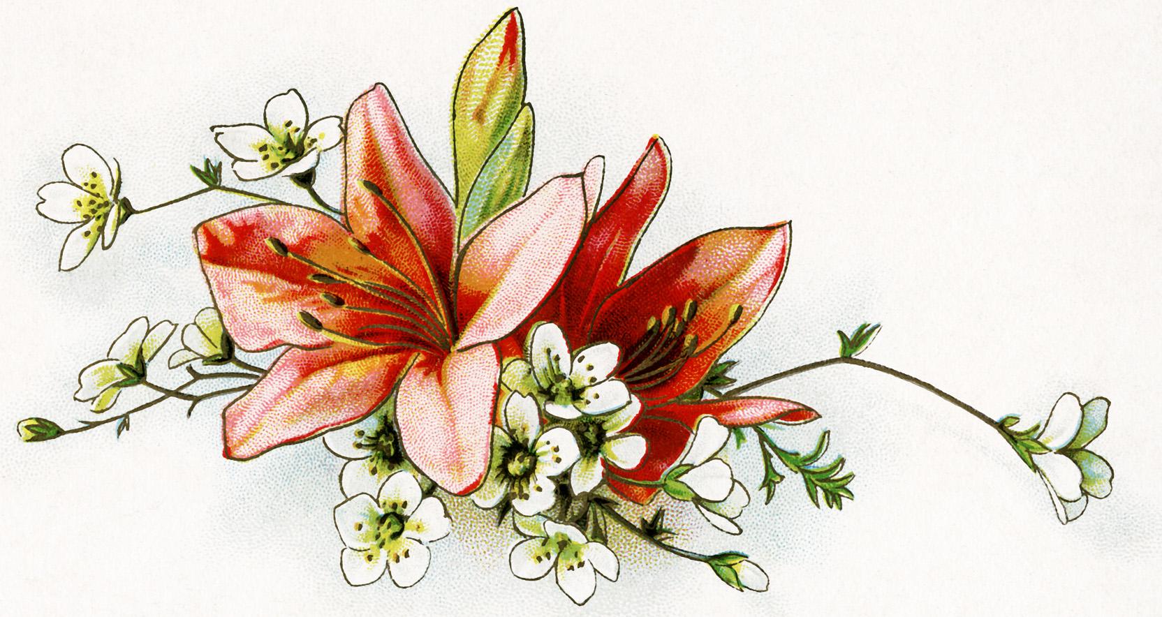 Bouquet clipart easter. Lily old design shop