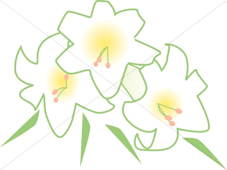 Bouquet clipart easter. Of white lilies church