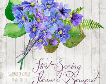 Bouquet clipart easter. Watercolor floral elements feathers