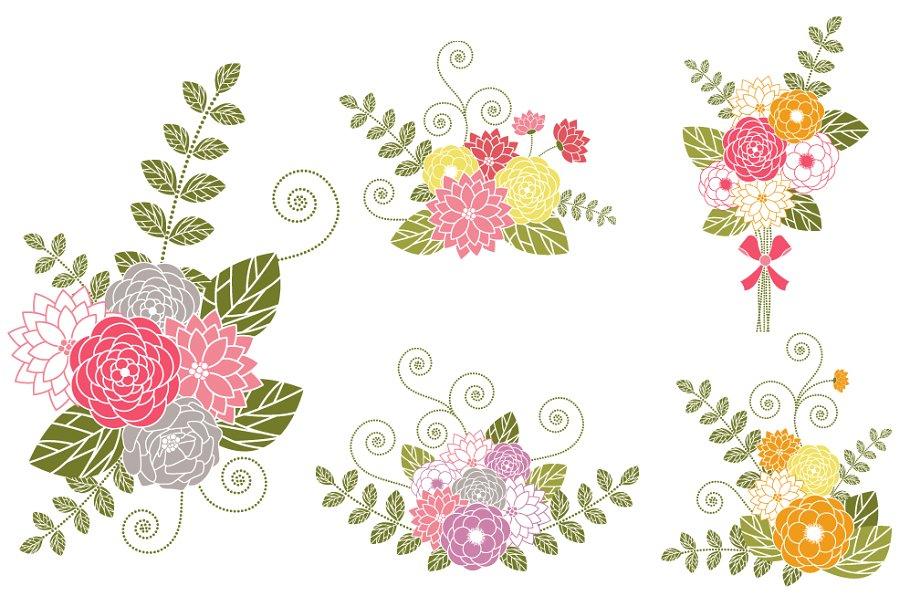Flower bouquets clip art. Bouquet clipart floral