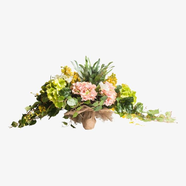 Bouquet clipart flower arrangement. Of artificial flowers table
