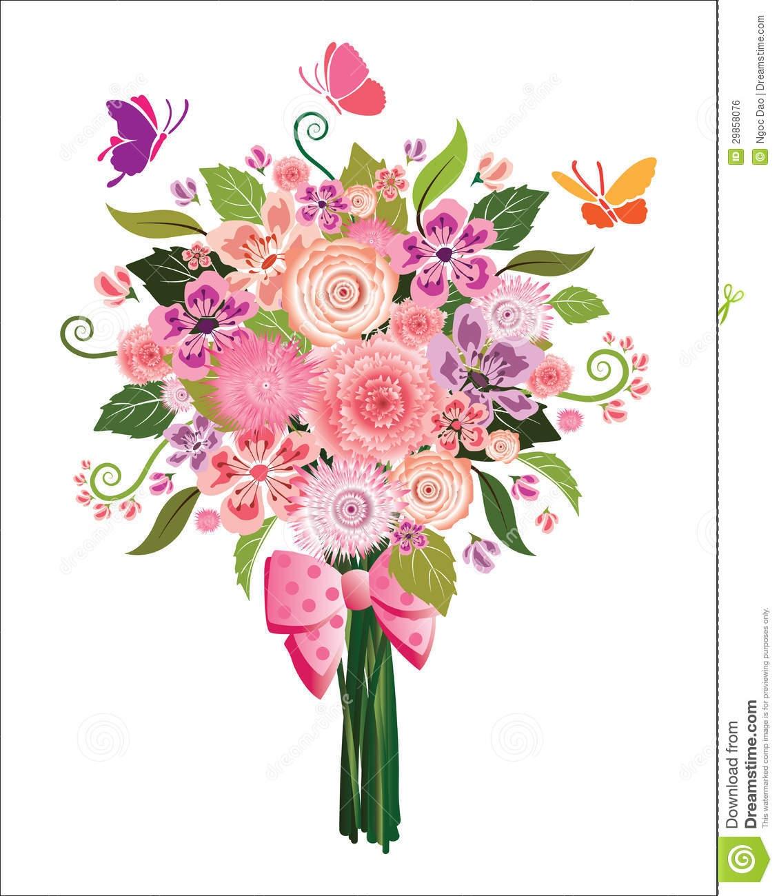 Free elegant spring pencil. Bouquet clipart flower arrangement