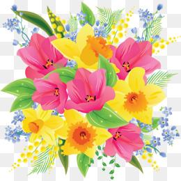 Png images vectors and. Bouquet clipart flower bunch