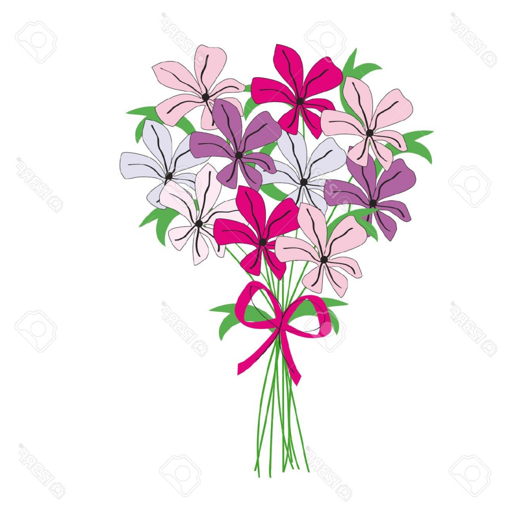 Drawing at getdrawings com. Bouquet clipart flower bunch