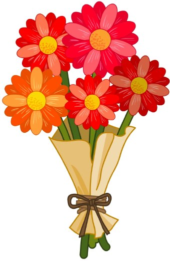 Bouquet clipart flower bunch. Free bunches cliparts download