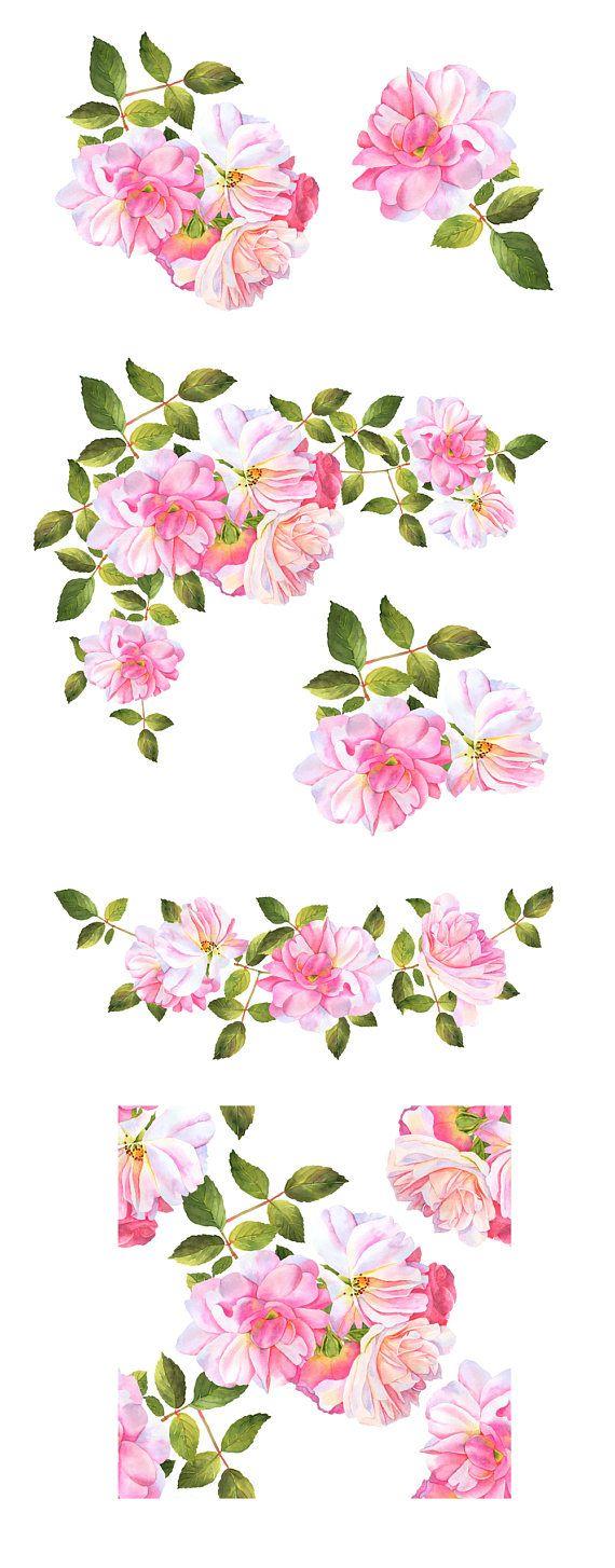 Bouquet clipart flower bundle.  best watercolor clip