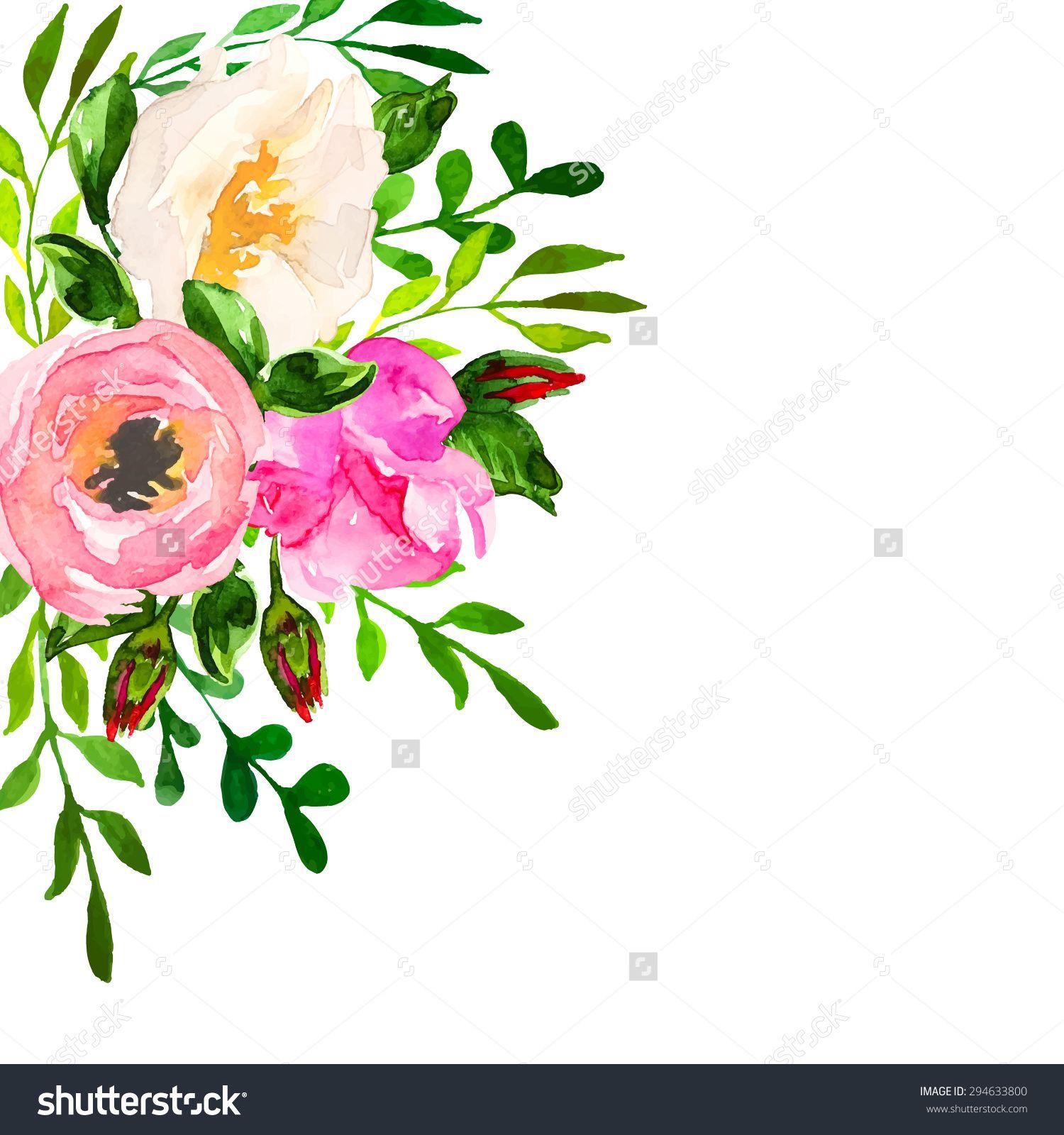 Beautiful floral hand drawn. Bouquet clipart flower bundle
