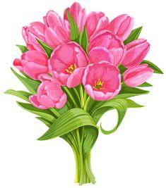 Tulip n talak tott. Bouquet clipart flower bundle