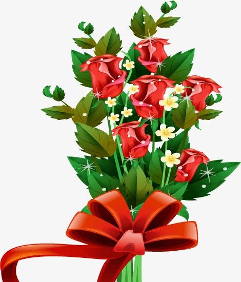 Bouquet clipart flower bundle. A whole of roses