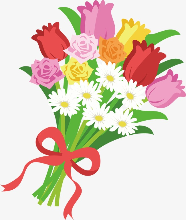 Bouquet clipart hand. Painted flower png image