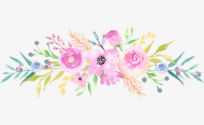 Watercolor flowers painted flower. Bouquet clipart hand