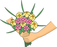 Bouquet clipart hand. Search results for clip