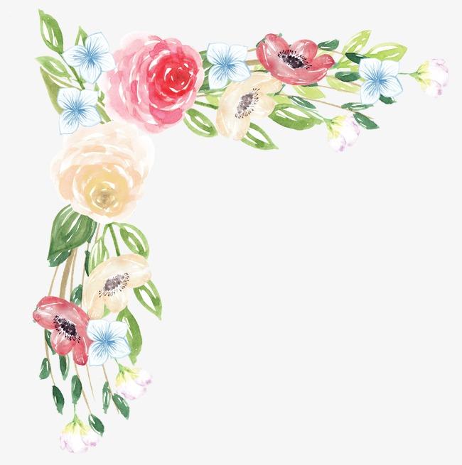 Painted bouquets flowers png. Bouquet clipart hand