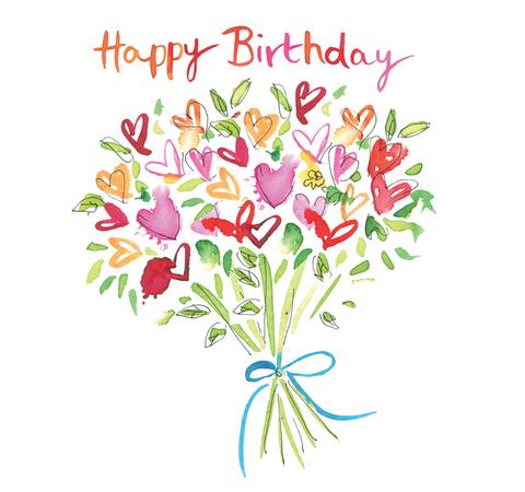 Card hazel mcnab. Bouquet clipart happy birthday