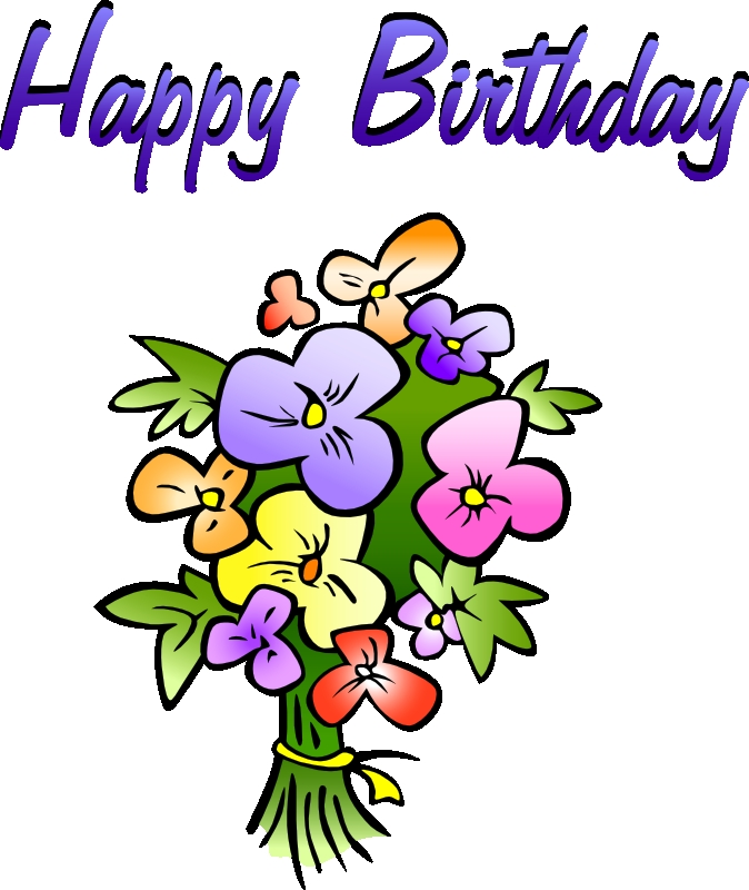 Free flower animated bouquets. Bouquet clipart happy birthday