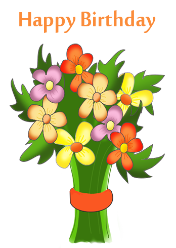 Flowers clip art pinterest. Bouquet clipart happy birthday