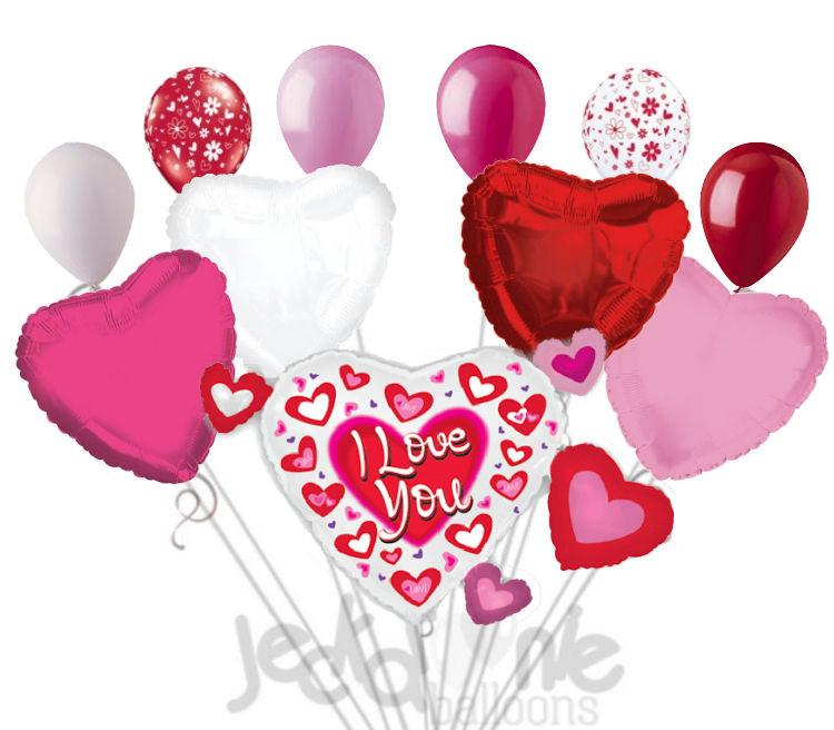 Bouquet clipart hearts. Pink red cluster i