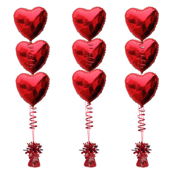 Bouquet clipart hearts.  red foil balloon