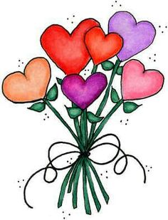 Bouquet clipart hearts. Bunny in pot laurie