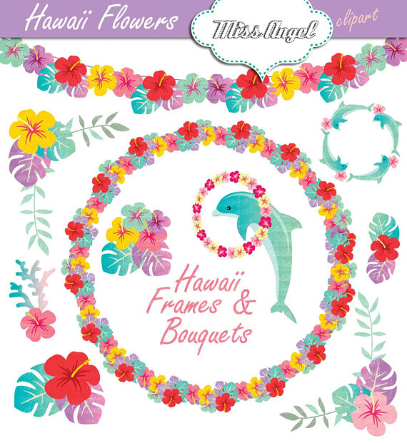Hawaii flowers and bouquets. Bouquet clipart hibiscus