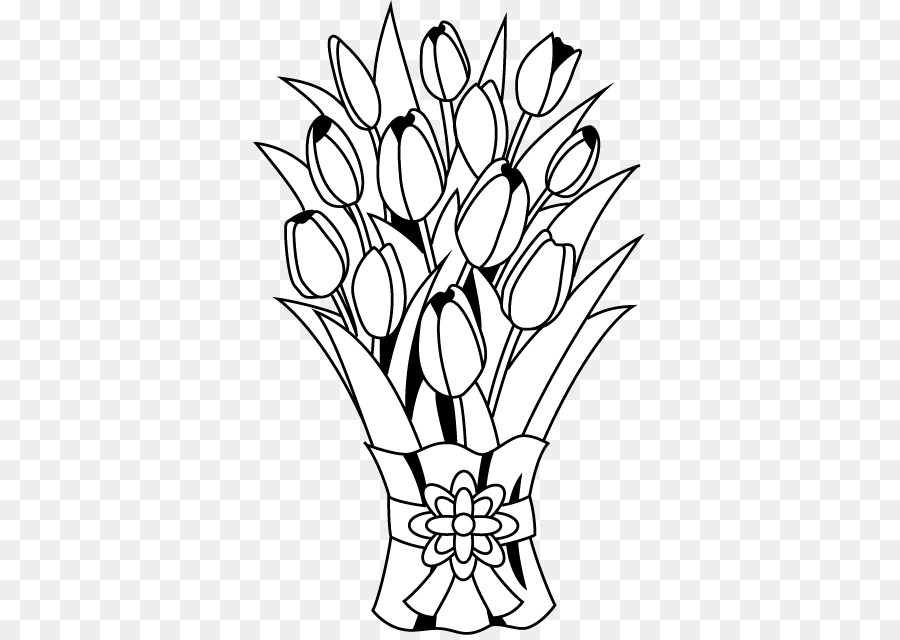 Bouquet clipart line art. Flower floral design clip
