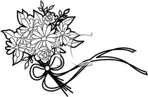 Bouquet clipart line art. Wedding flowers clip panda