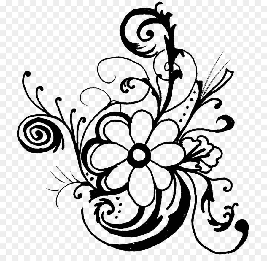 Flower floral design free. Bouquet clipart line art